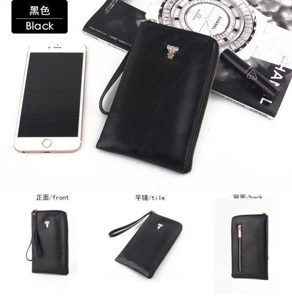 Hottest sale MILESI Fashion Lady pu leather Clutch Wallets Women zipper long Wallet