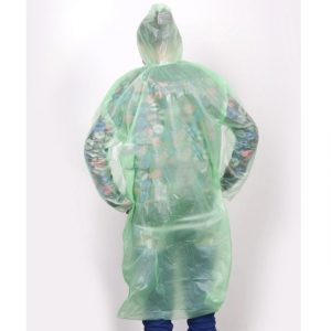 Disposable Raincoat Adult Emergency Waterproof Hood Poncho Travel Camping Must Rain Coat