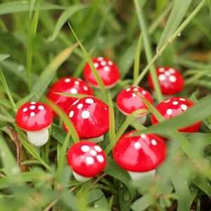 10 Pcs Resin Mushroom Micro Landscape Bonsai Plant Gardening Garden Accessory Decor Stakes