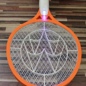 Rechargeable LED Electric Insect Bug Fly Mosquito Zapper Swatter Killer Racket 3-layer Net Safe
