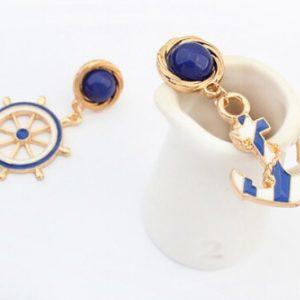 Rhinestone Anchors Stud Earring For Women