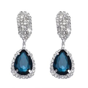 Rhinestone-Crystal-Earring-Drop earrings online clicknorder.pk