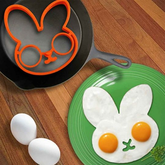 Rabbit Head shaped silicone egg mold omelet