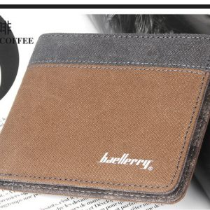 Hot Sale Fashion Men Wallets Quality Soft Linen Design Wallet Casual Short Style 3 Colors Credit Card Holder
