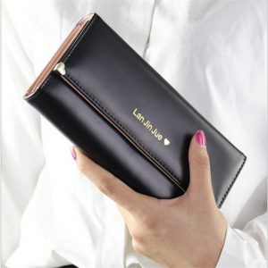 Designer Famous Luxury Brand Long Women Wallets Lady Female Card Coin Purse Carteras Walet Money Cuzdan