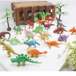 static simulation dinosaur suit animal tree identification PVC Model Classic Toys Christmas gift