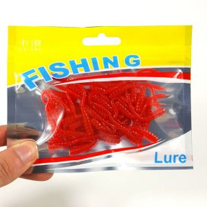 silicone bait Earthworm red Worms Artificial Fishing Lure Tackle Soft Baits Red Fishy Smell Soft Lure