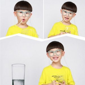 Funny Soft Drinking Straw Eye Glasses Novelty Toy Party Birthday Gift Child Adult DIY Straws