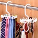 White color Adjustable 18 Hook Neck Scarf Ties Organizer Tie Hanger Holder