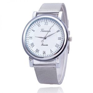 Silver Watches Fashion Geneva Watches Ladies Casual Wrist Watch Quartz Watch