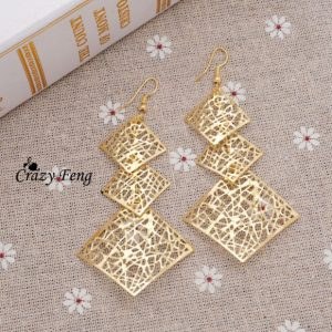 Simple Enamel 18K Gold Plated Earrings
