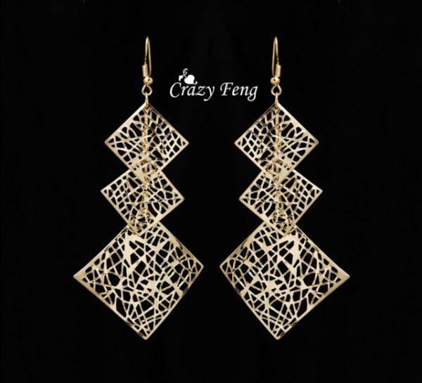 Simple Enamel 18K Gold Plated Earrings