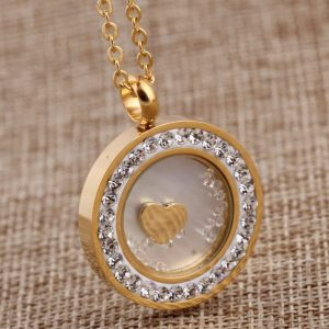 Stainless Steel Crystal Pendant Jewelry fashion necklaces for women
