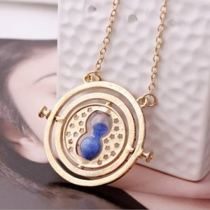 Time Turner Necklace Harry Potter Hermione Granger Rotating Hourglass
