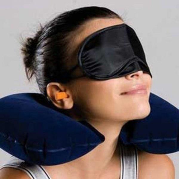 1 set of Travel Kit Inflatable U shape Neck Pillow eye mask