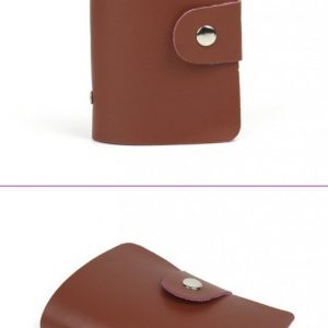 Fashion 24 Bits Useful Business Credit Card Holder PU Leather Buckle Cards Holders Organizer Manager For Women Men