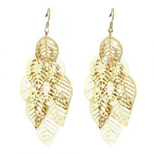 Vintage Retro Leaf Earrings
