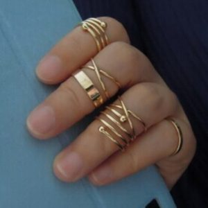 Women Spring 6PcsSet Vintage Design Stack Above Knuckle Ring