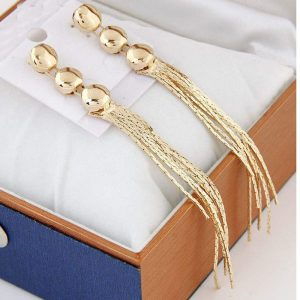 Women Tassel Pendant Ear Stud Dangle Elegant Earrings