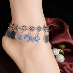 Womens Tassel Gypsy Festival Turkish Beach Anklet Jewelry Anklets Chain