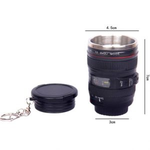 5.5 *3.0*7.5cm Stainless Steel SLR Camera EF24-105mm Coffee Lens Mug cup 1:1 scale caniam coffee cup