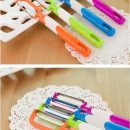 New design candy color large fruit peeler stainless steel blade cucumber