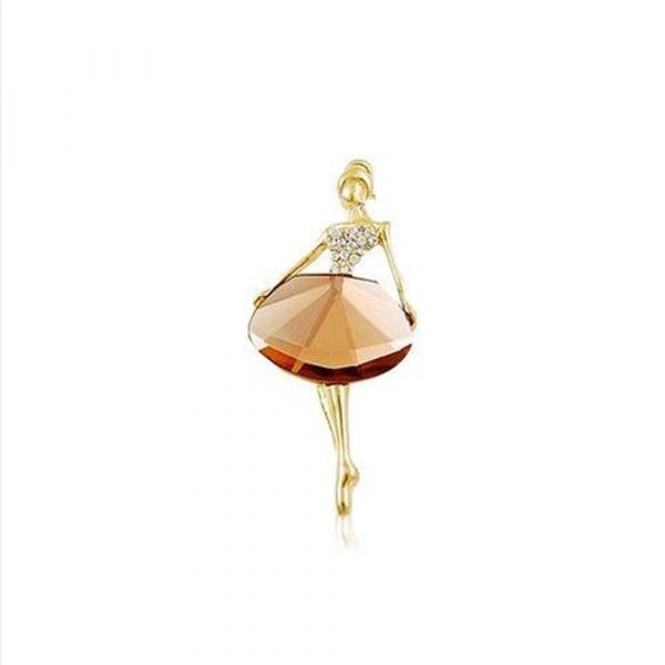 Beautiful princess ballerina brooch exquisite brooch bling gem brooch