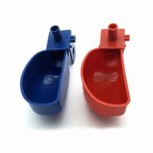 Deep Red/ Blue Quail Drinking Bowl Poultry Feeding Supplies ABS Quail Drinker