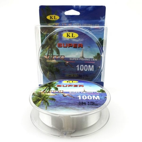 Available clear 100M Nylon Daiwa Fishing Line Fiber Leader Line brand fly fishing lines