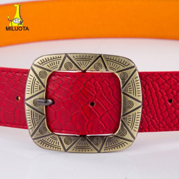 brand designers belts for women high quality PU leather belt women fashion metal buckle