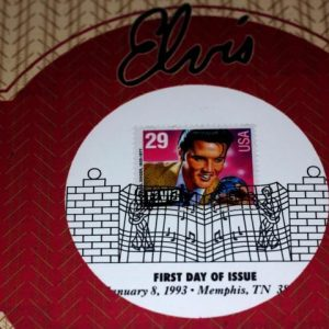 1993 29c Elvis Presley First Day of Issue Ceremony Program