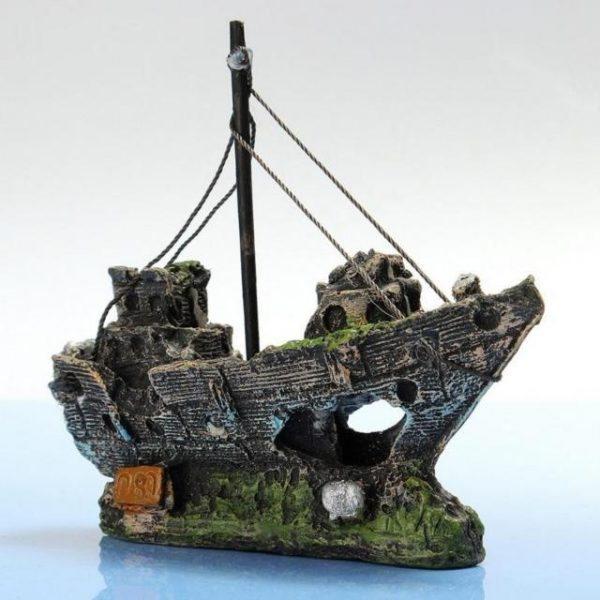 Beautiful Aquarium Ornament Wreck Sailing Boat Sunk Ship Destroyer Fish Tank Aquarium Decoration