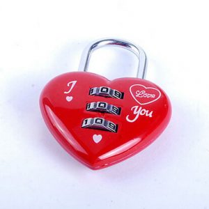 Kawaii Red Heart Shaped Padlock