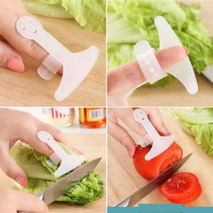 Hand Guard Finger Protector Safe Slice Tool Plastic Hand Guard Kitchen Cooking