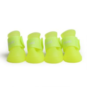 Dog Shoes New Lovely Portable Pet Dog Waterproof PU Boots Rain Shoes