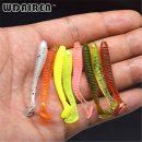 10Pcs/Lot 0.7g/5cm Lures Soft Bait 7 colors fishing lure Soft lures Fishing bait