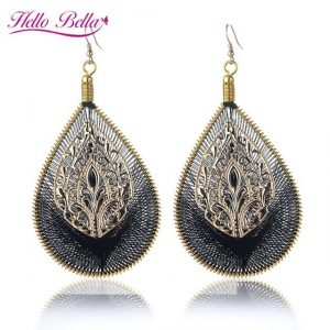 Fashion Water Drop Earrings Bohemia Big Ear dangle earrings For Women Jewellery