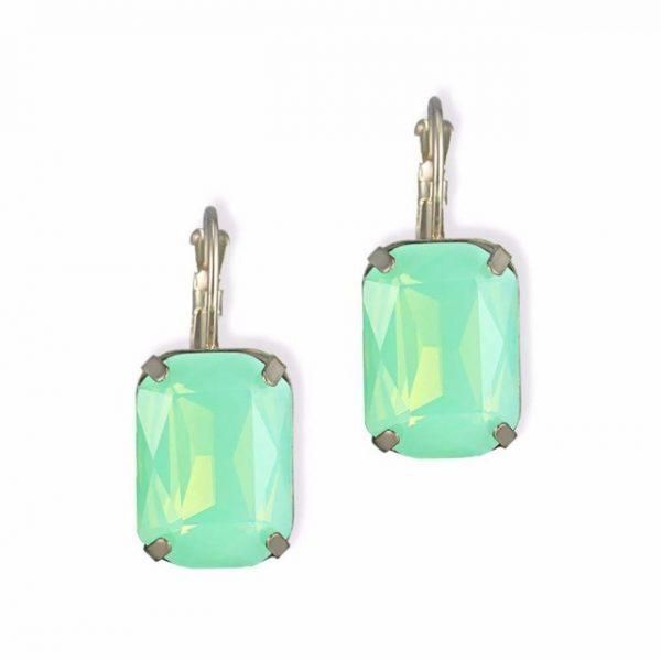 Opal crystal small drop earrings for women gold plated copper dangle statement earring