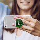Pakistan Flag Pattern Design PopSockets For Mobiles Detach