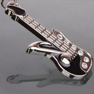 Bluelans Fashion Keychain Mini Guitar Key Ring Keyring