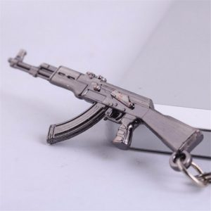 New Zinc Alloy AK-47 Gun Pistol Keychain Metal Key Ring