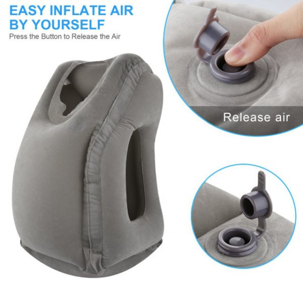 New Soft Air Inflatable Travel Pillow Neck Pillow Comfortable Travel Airplane Car Pillows