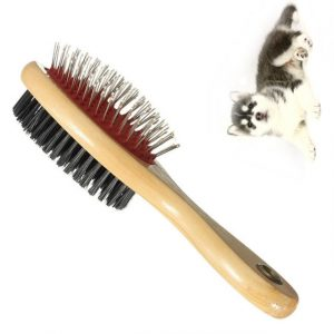 Double Faced Pet Dog Comb Long Hair Brush Plastic Handle Puppy Cat Massage Bath Brush Multifunction Pet Grooming Tool