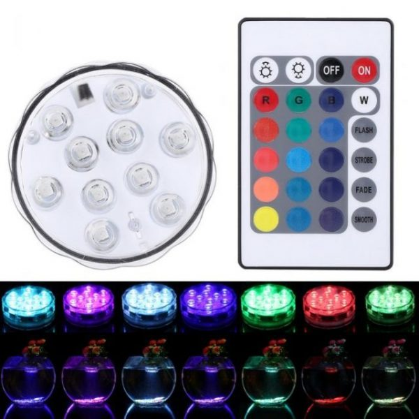 Underwater Multi color LED Light Waterproof Remote Controller