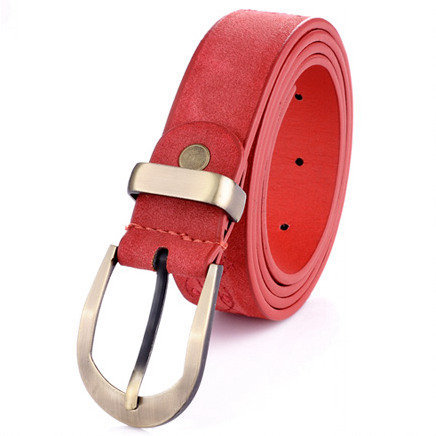women belt high quality Metal buckle cowhide leather belts