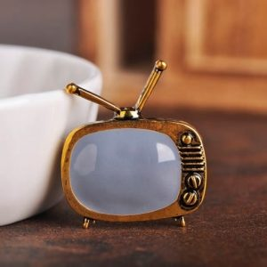 TV Television Shape Brooch Gold and silver Color Brooch