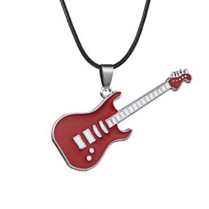 Pendant Chains Music Jewelry Stainless Steel Guitar Necklaces