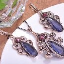 Jewelry Sets Necklace &Earrings Stone Turkish jewelry – Blue