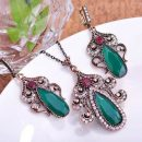 Jewelry Sets Necklace &Earrings Stone Turkish jewelry – Green