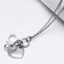 Crystal silver women necklace jewelry lady stone
